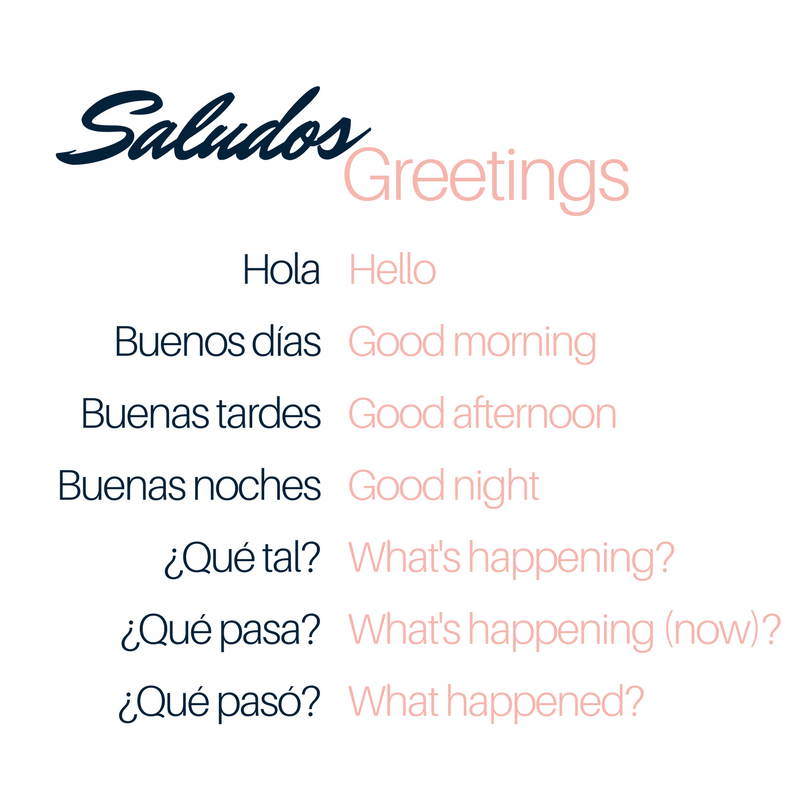 Bella Musing Spanish Greetings