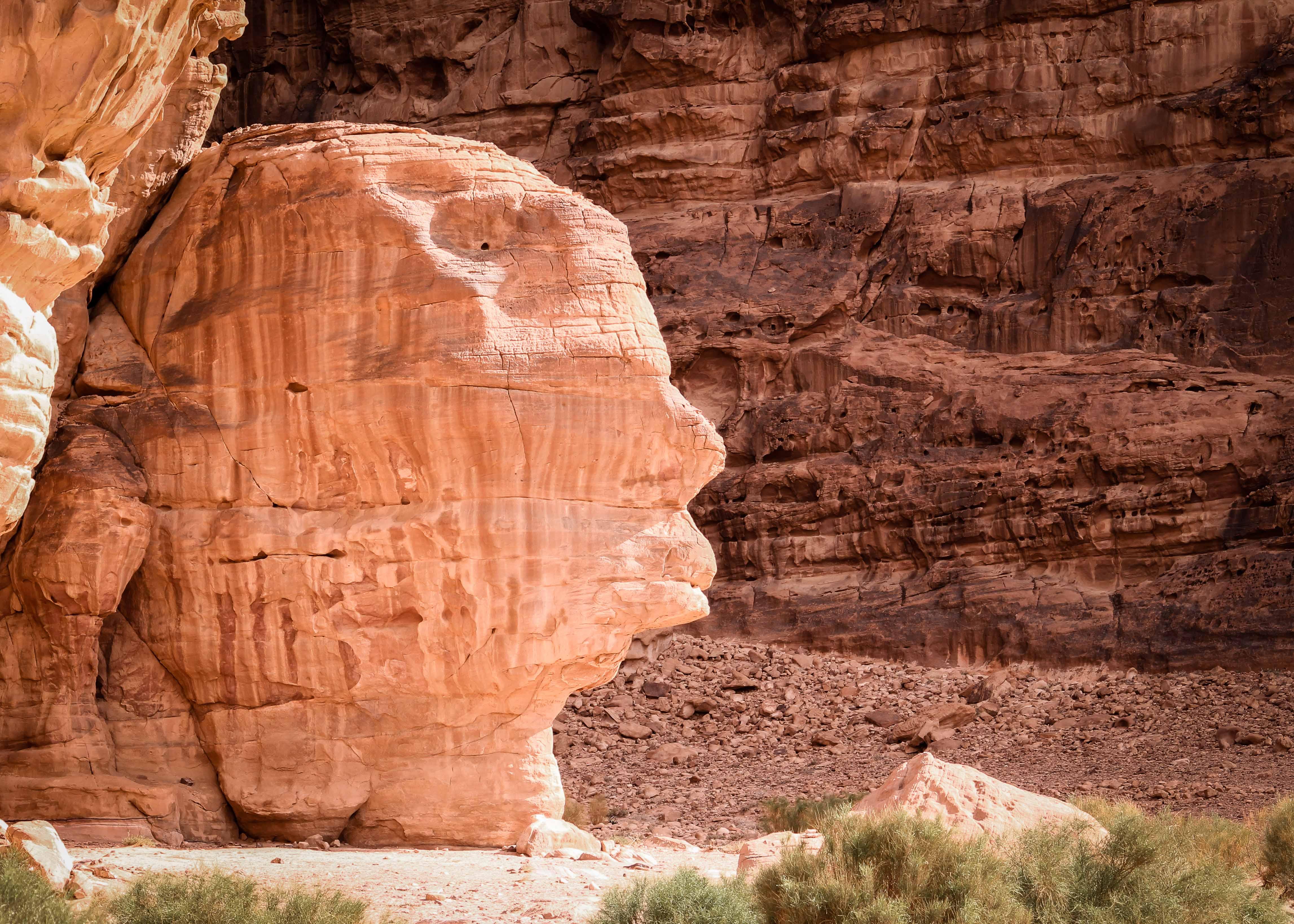sculpture wadi rum desert